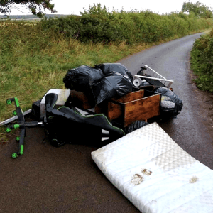 Fly tipping in Clowne